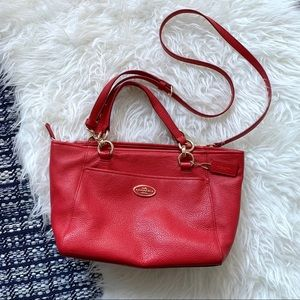 Coach mini Ellis tote handbag purse crossbody red